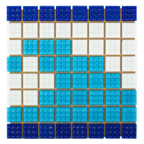 Фриз Волна из стеклянной мозаики Aquaviva U-37 / 6843
