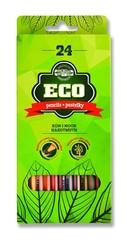 Карандаши цветные неокрашенный корпус ECO 2264, 24 цвета