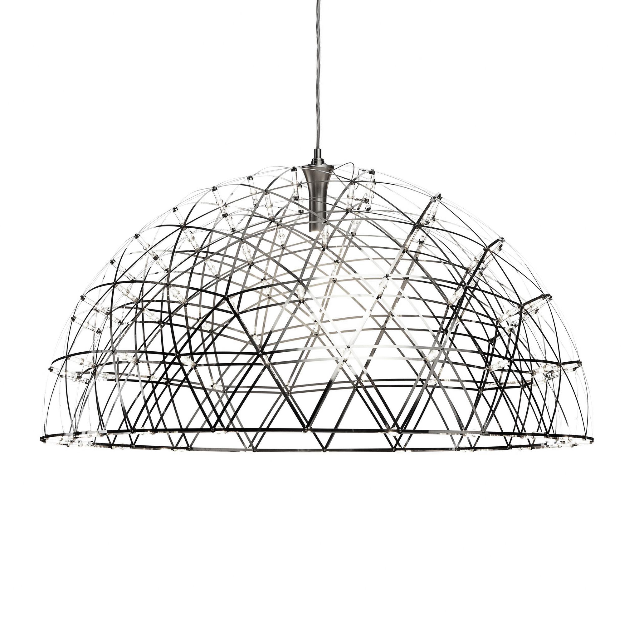 Подвесной светильник копия Raimond Dome by Moooi (серебряный, D 79 cm)