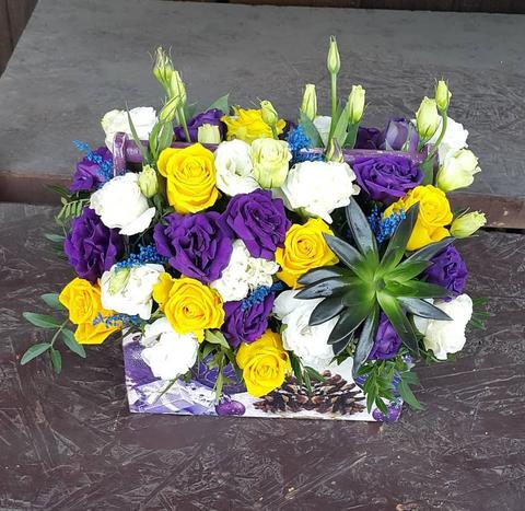Ящик с цветами весенний 7