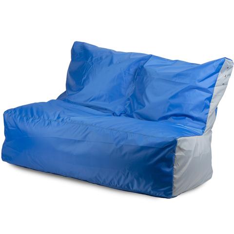 Бескаркасный диван «Классический», Синий и серый
