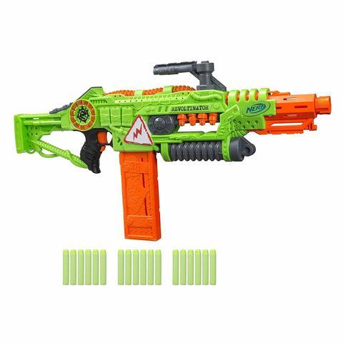 Бластер NERF Zombie Strike Revoltinator (мотор, свет, звук)