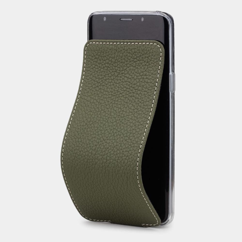 Чехол для Samsung Galaxy S9 из натуральной кожи теленка, зеленого цвета