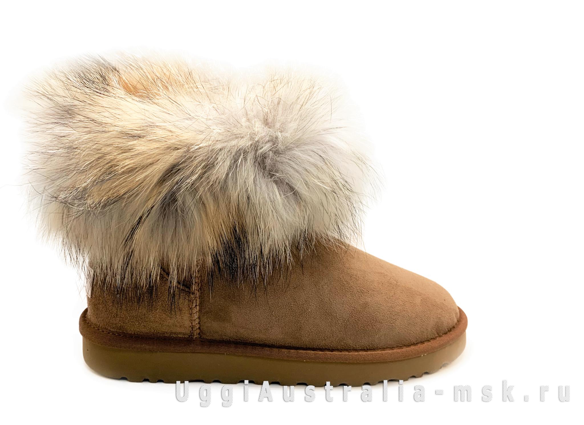 UGG Fox Fur Chestnut