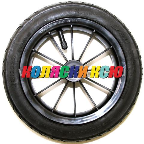 Колесо для детской коляски №003110 надув 10дюймов без вилки 50-160 (втулка на ось 10мм)
