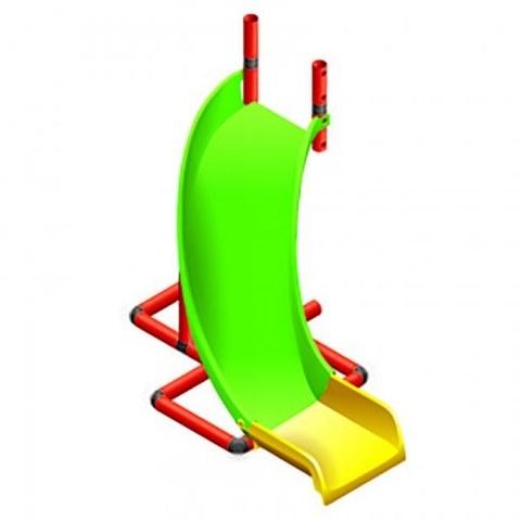 Горка с поворотом Quadro Curved slide арт. 10020