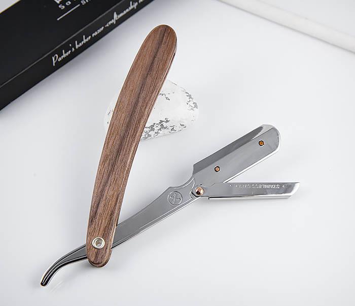 RAZ512 Шаветт «PARKER» SRDW для сменных лезвий с деревянной рукояткой фото 08