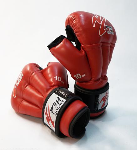 Перчатки для рукопашного боя Fight-1, 10oz, исккожа, р. M (цв.красный) С4ИХ10