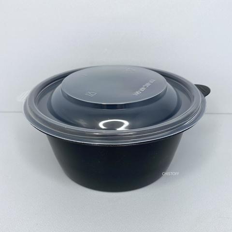 Супница ПР-МС 501 500 мл черная + крышка прозрачная