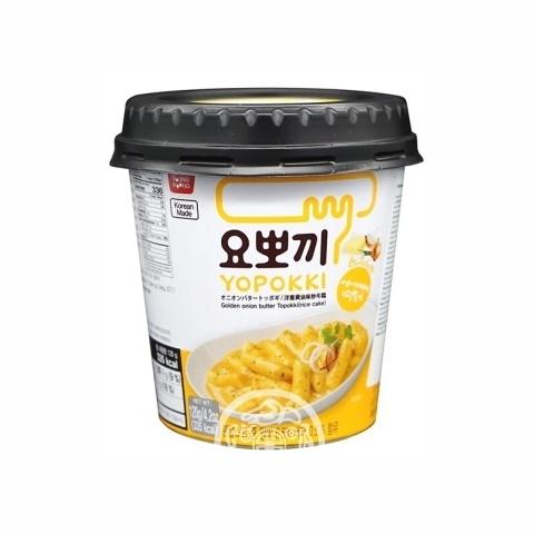 Рисовые клёцки Токпокки Yopokki б/п со сливочно-луковым соусом 120г Корея