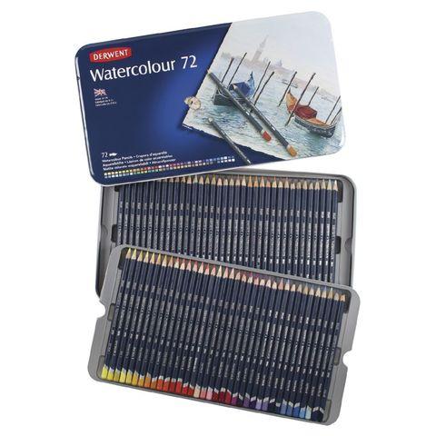 Набор из 72 акварельных карандашей Derwent Watercolour в металлической коробке