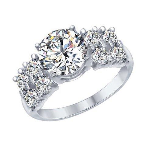 94012566 - Кольцо из серебра с фианитами
