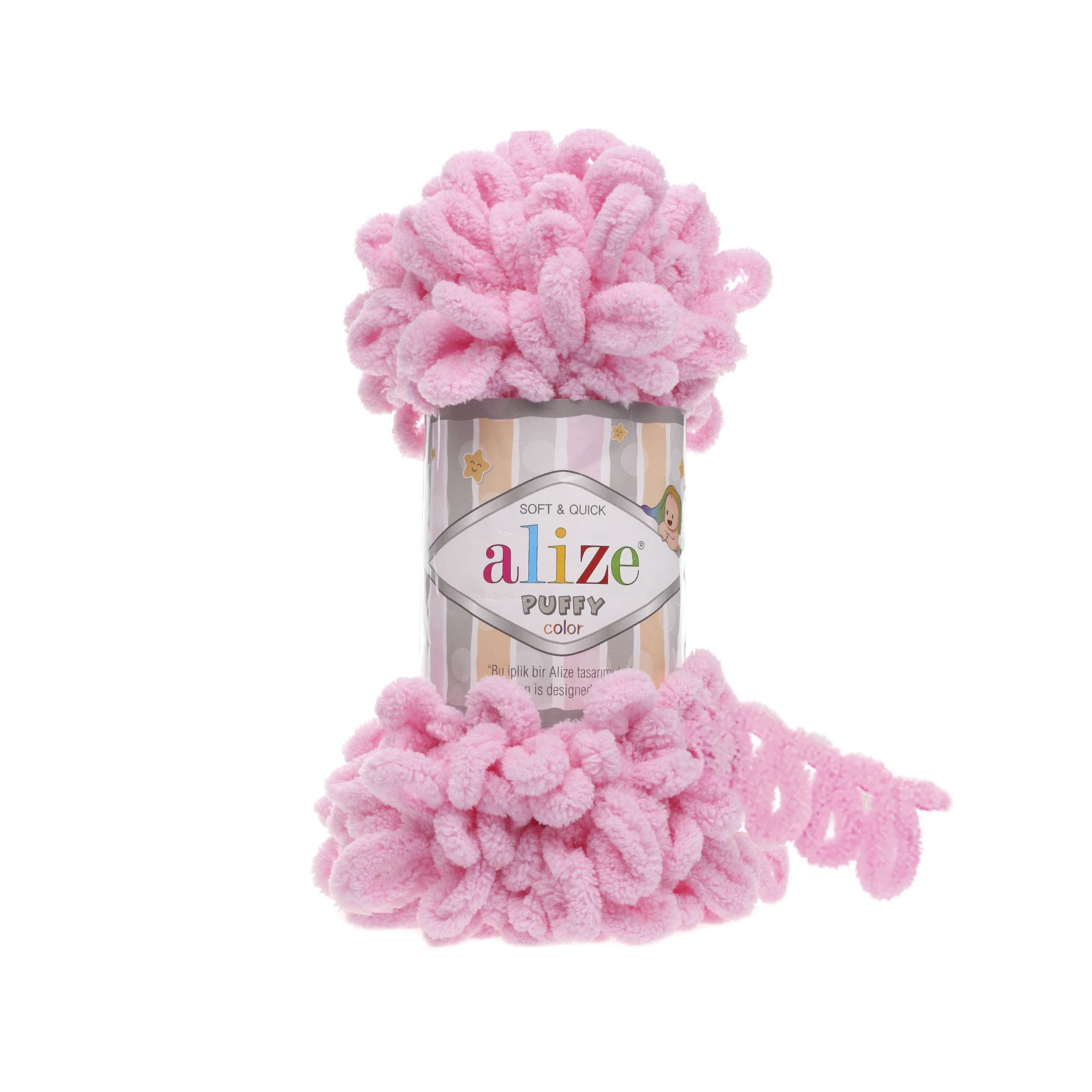 Пряжа Alize Puffy 185 розовый