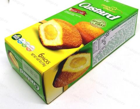 Кекс с заварным кремом Custard, Корея, 138 гр.