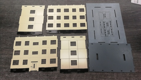 Типовой панельный дом 3-эт. 1 подъезд 1/87 НО ПД-001