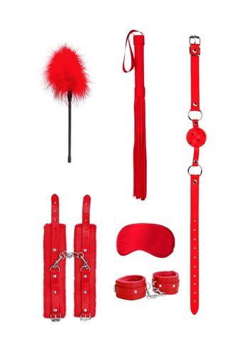 Красный игровой набор Beginners Bondage Kit