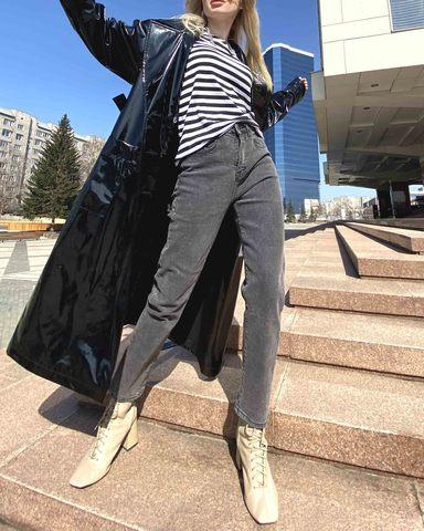 Легендарные джинсы момс в сером оттенке