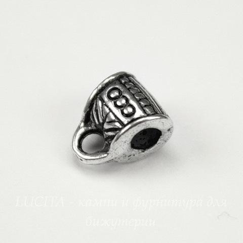 Бейл 7х8х5 мм (цвет - античное серебро)