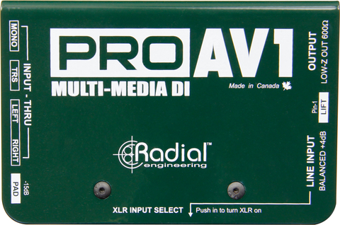 Radial Pro AV1 пассивный мультимедиа директ-бокс