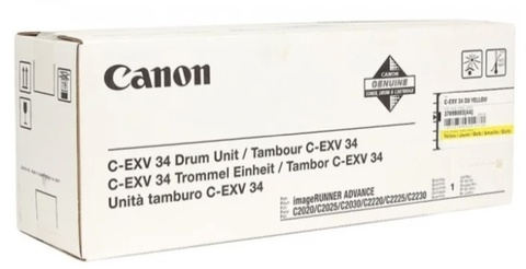 Фотобарабан Canon C-EXV34 Y DU (3789B003/3789B003AA/3789B003BA) желтый
