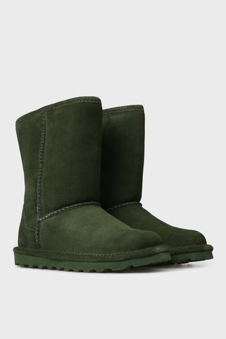 Женские зеленые замшевые угги ELLE Bearpaw