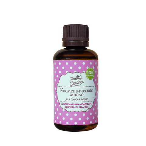 Косметическое масло Для блеска волос с экстрактом облепихи, крапивы и малины, 50 г ТМ PRETTY GARDEN
