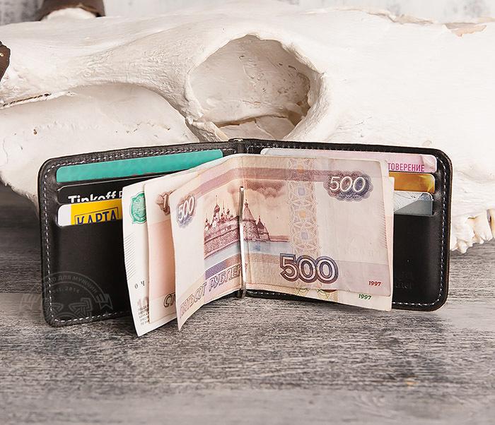 WB108-4 Яркий кошелек ручной работы с зажимом для денег. «Boroda Design» фото 05