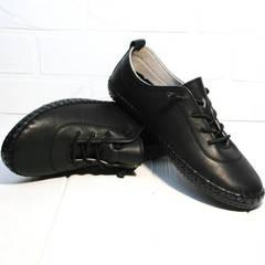 Кожаные мокасины женские Evromoda 115 Black