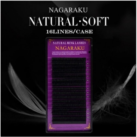 Ресницы NAGARAKU нагараку 16 линий ИЗГИБ D(Д) (отдельные длины)