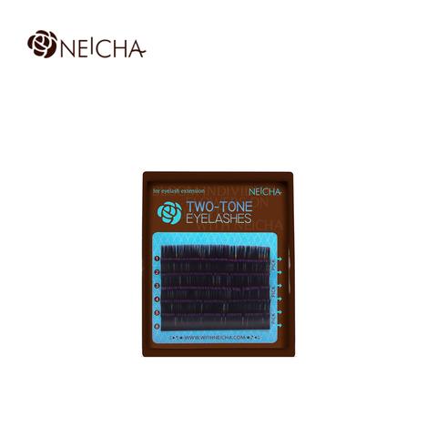 Ресницы NEICHA нейша MIX 6 линий двухцветные черно-фиолетовые