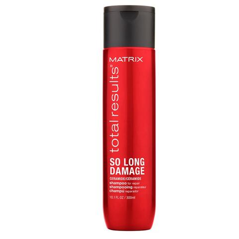 Matrix Total Results So Long Damage: Шампунь для восстановления ослабленных волос с керамидами (So Long Damage Shampoo), 300мл/1л