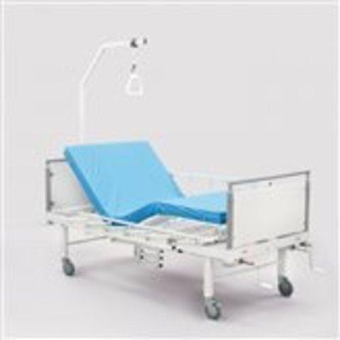Кровать медицинская с правосторонним туалетным устройством  КМФ 943 WHITE WC - фото