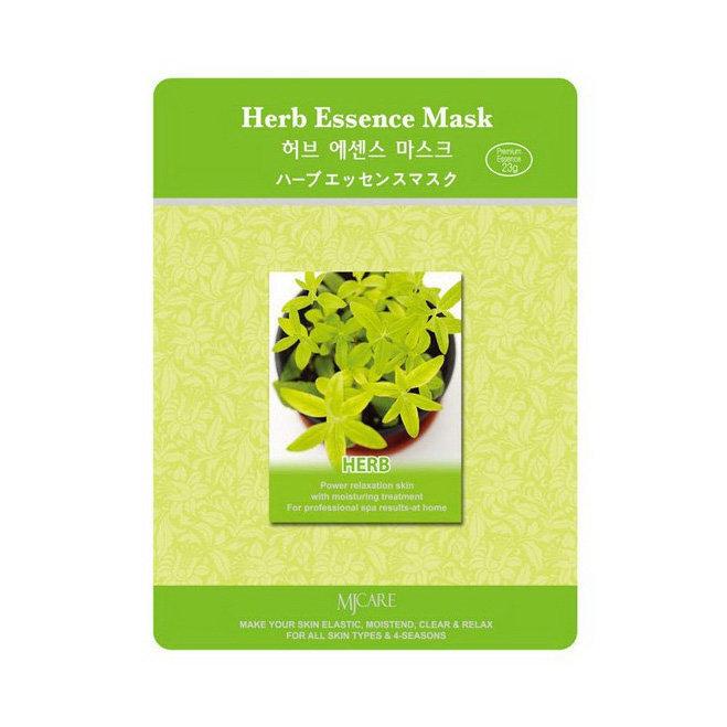 Тканевая маска для лица лечебные травы MIJIN Care Mask