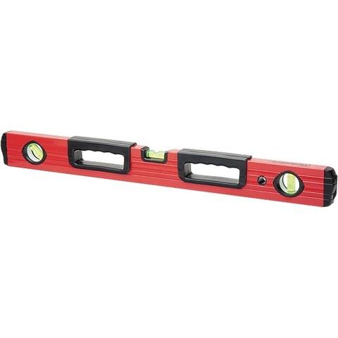 Уровень алюминиевый, 1000 мм, 3 глазка, две эргономичные ручки, MTX