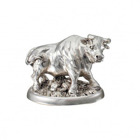 Серебряная Корова с теленком - Символ 2021 года