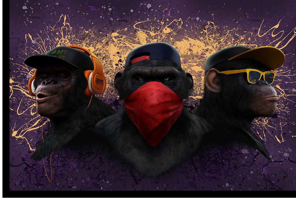 "Постеры Постер ""Три обезьяны дрим-арт"" п0497.png"