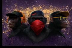 """Постер """"Три обезьяны дрим-арт"""""""