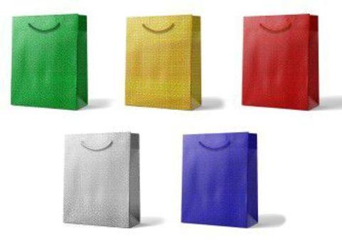 Подарочные пакеты бумажные 32х45х10 с ручками голографические