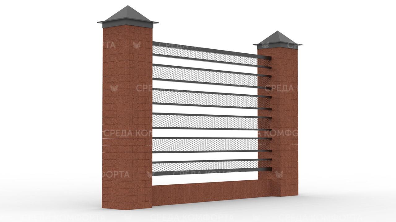 Забор из сетки рабицы ZBR0191