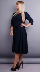 Кора. Елегантна сукня плюс сайз. Синій.