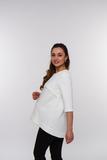 Джемпер для беременных и кормящих 08294 шишечки кремовые
