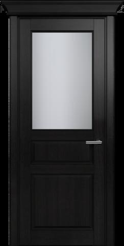 CLASSIC 532 Дуб Черный стекло Сатинато Белое