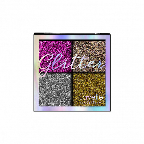 LavelleCollection Тени 4-х цветные для век Glitter тон 02 Северное сияние