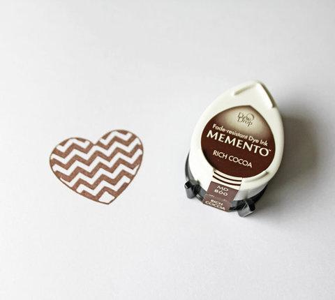 Штемпельная подушечка mini - MEMENTO - Rich Cocoa