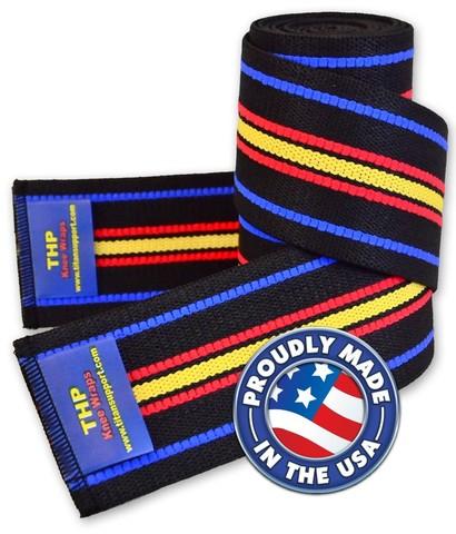 Купить коленные бинты TITAN THP Knee Wraps для пауэрлифтига и приседаний со штангой