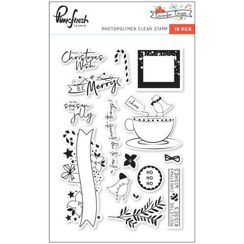 Штампы c комплектом ножей December Days Photopolymer Stamps-15 шт.