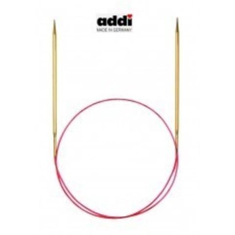 Круговые позолоченные спицы Addi с удлиненным кончиком 80 см