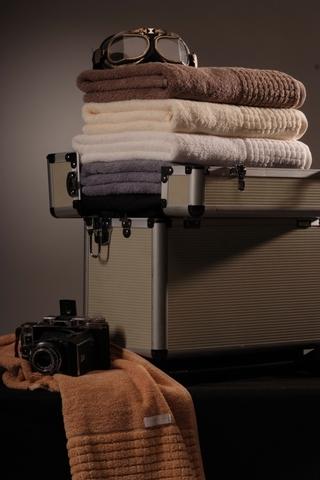 Стильное банное махровое полотенце CARRARA Buddemeyer 70х140