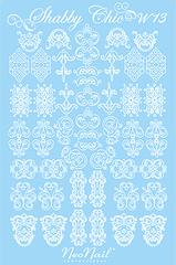 Трафарет для дизайна Shabby Chic 13 белый