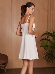 Vivamama. Сорочка для беременных и кормящих Izabel, молоко вид 4